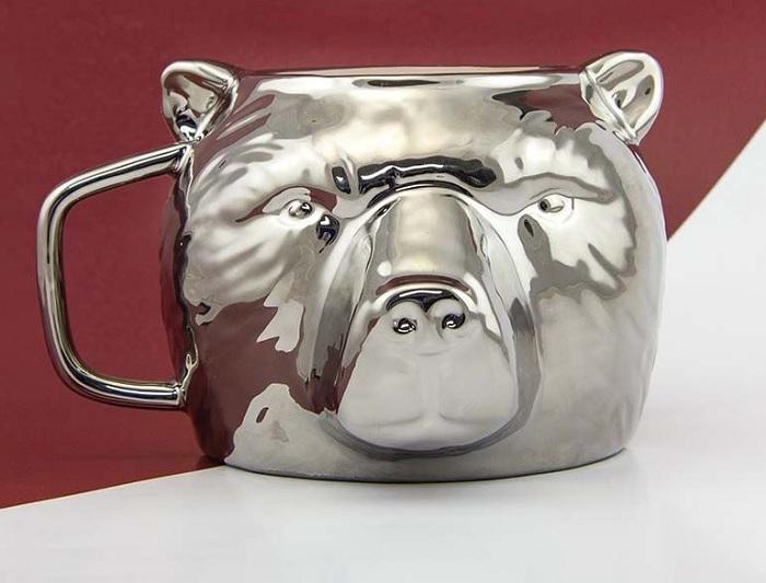 Kubek srebrny niedźwiedź