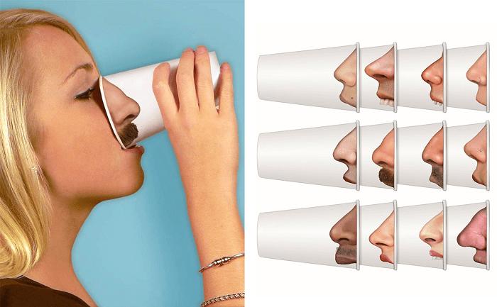 Zestaw papierowych kubków nosy od Fred & Friends