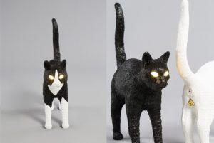 Lampka kot ze świecącymi oczami by Seletti
