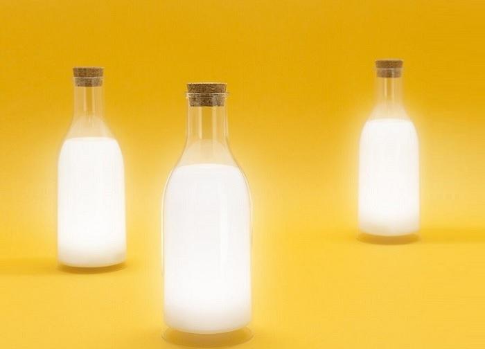 Lampka butelka mleka ładowana przez USB