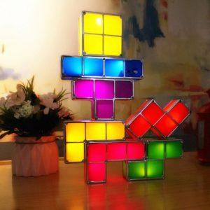 lampka klocki tetris