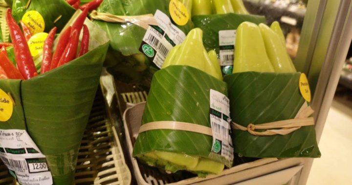 liscie bananowca zamiast plastikowych worków1