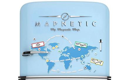 magnetyczna mapa świata na lodówkę