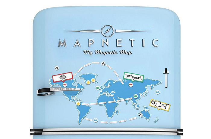 Magnetyczna mapa świata na lodówkę Mapnetic