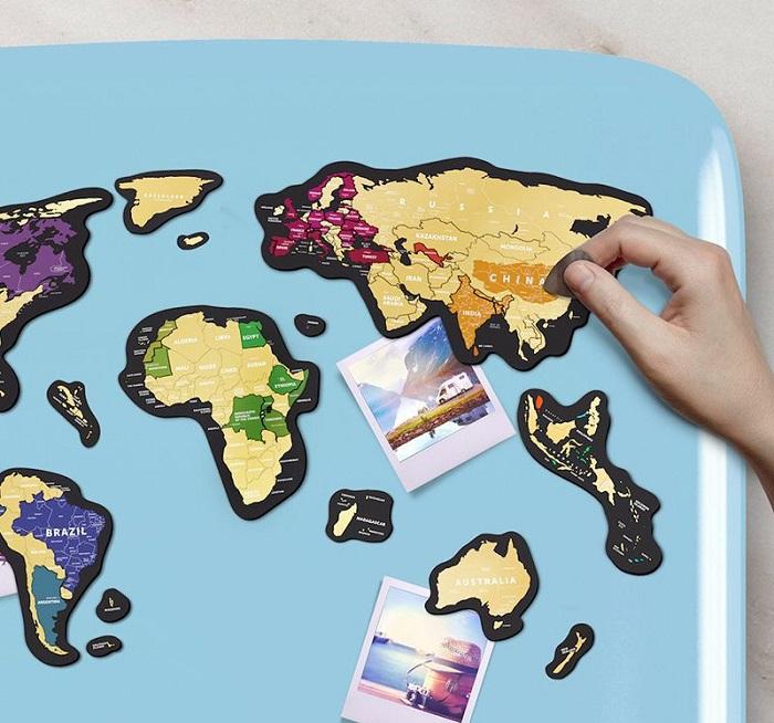 mapa zdrapka magnes