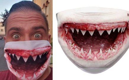 maseczka paszcza rekina
