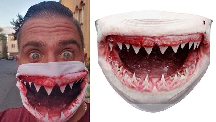 Maseczka ochronna krwawa paszcza rekina