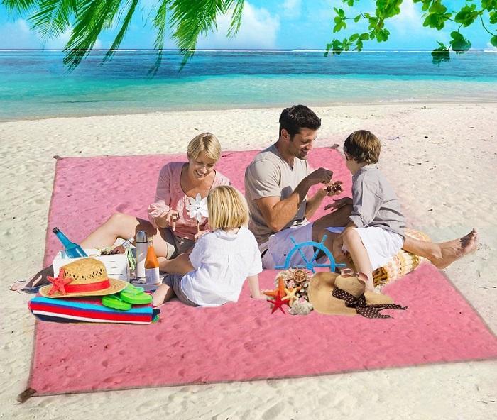 mata plażowa przepuszczająca piasek