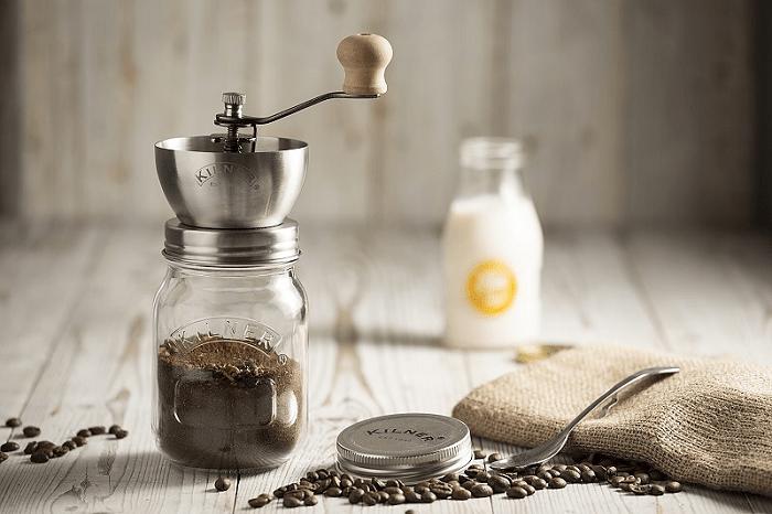 Retro młynek do kawy słoik marki Kilner