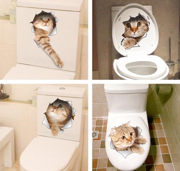 naklejka na wc kot