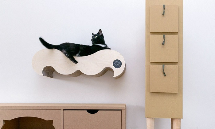 półka legowisko dla kota wąsy