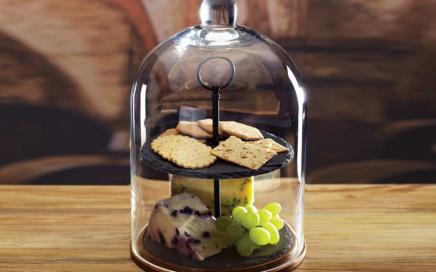 patera ze szklanym kloszem kitchen craft