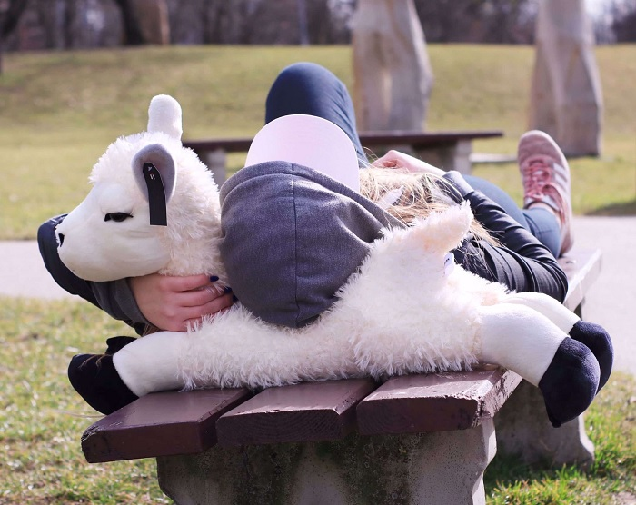 Pluszowa alpaka do przytulania