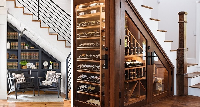 10 pomysłów na zagospodarowanie przestrzeni pod schodami