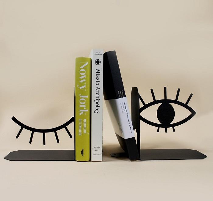 podpórka do książek oczy