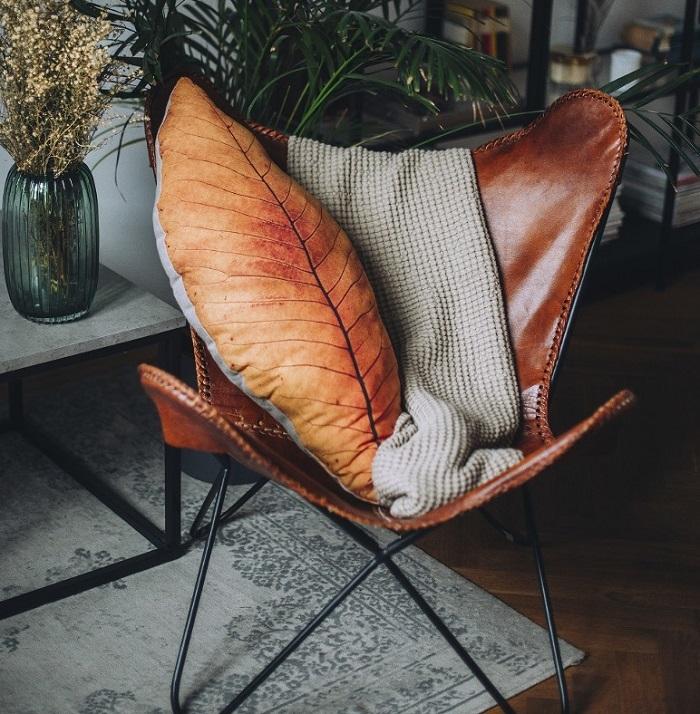 poduszka jesienny lisc
