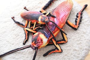 Poduszka wyglądająca jak karaluch
