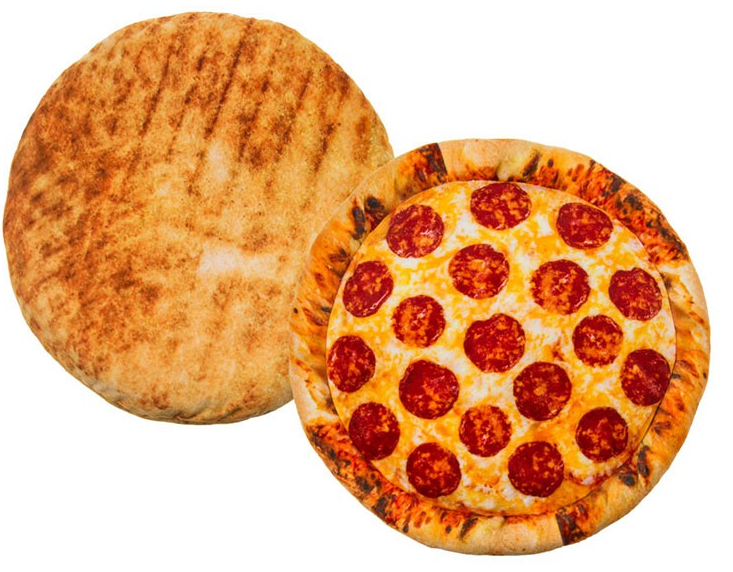 Okrągła poduszka pizza