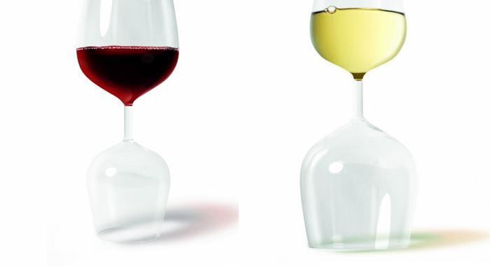 podwojny kieliszek do wina