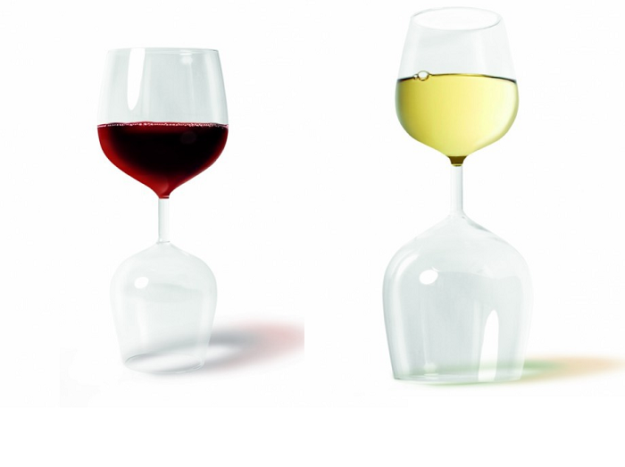 kieliszek do czerwonego i białego wina 2w1