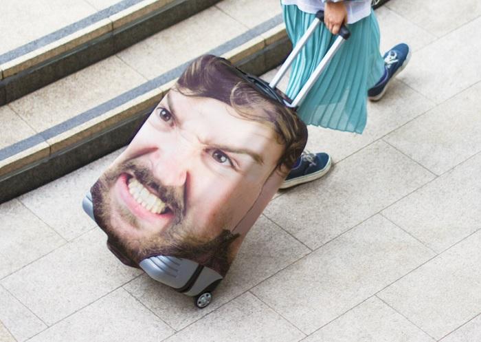 Pokrowiec na walizkę ze zdjęciem twojej twarzy