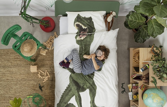 Pościel z wielkim dinozaurem marki SNURK