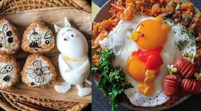 Przepysznie wyglądające posiłki z bajkowymi postaciami