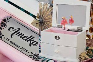 Spersonalizowana szkatułka z pozytywką i baletnicą