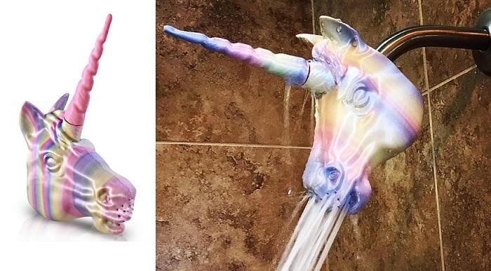 Tęczowy jednorożec prysznicowy