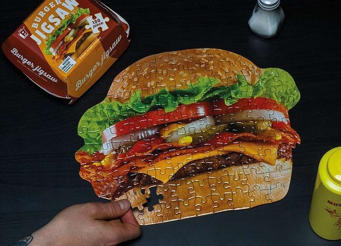 Puzzle soczysty burger