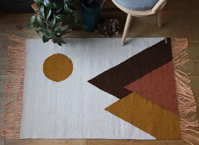 reczni tkany dywanik