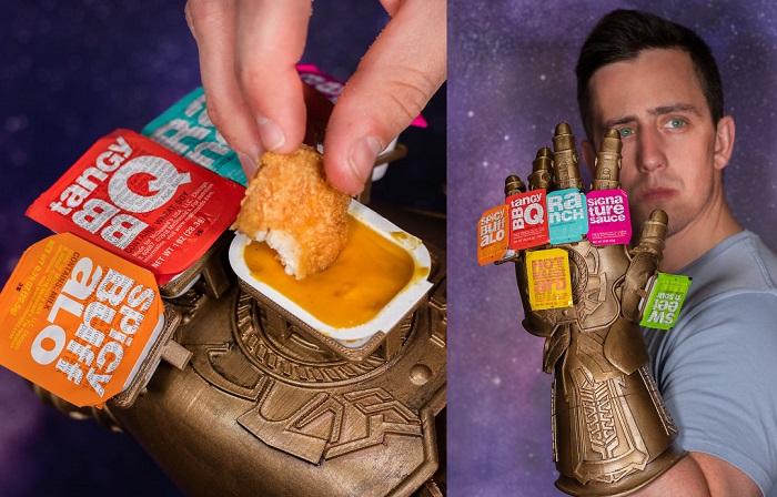 Infinity Saucelet, czyli Rękawica Nieskończoności jako pojemnik na fastfood'owe sosy