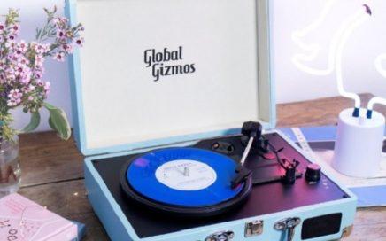 retro gramofon w walizce