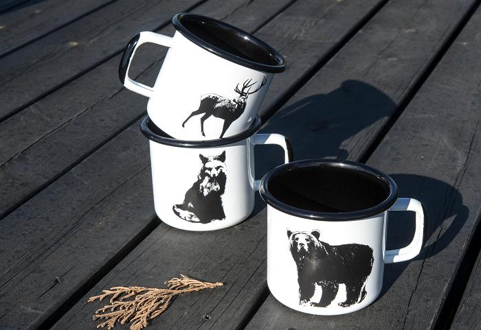 Retro kubki ze zwierzakami Nordic by Muurla