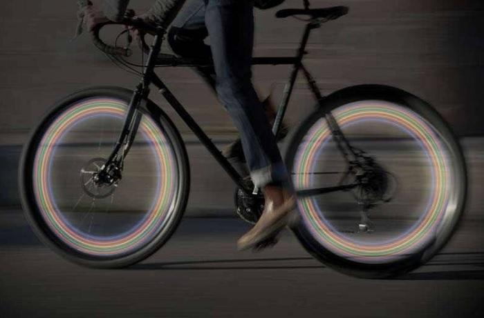 Światełka LED na koła roweru
