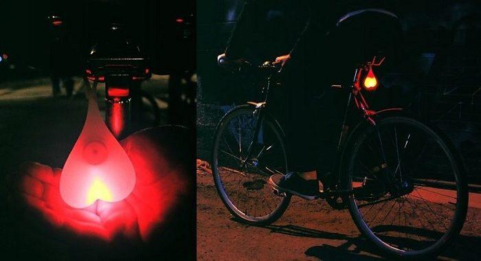 rowerowe jaja lampka humor