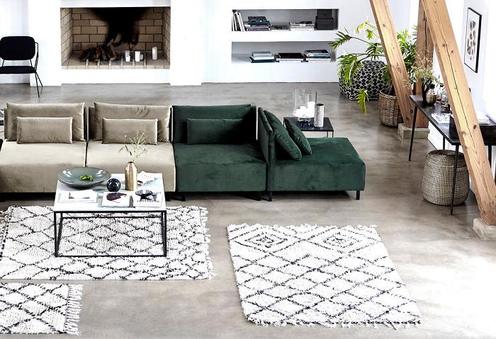 Skandynawski dywan w romby by House Doctor