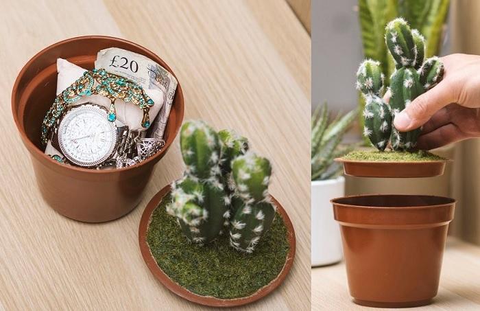 Skrytka na drobiazgi kaktus