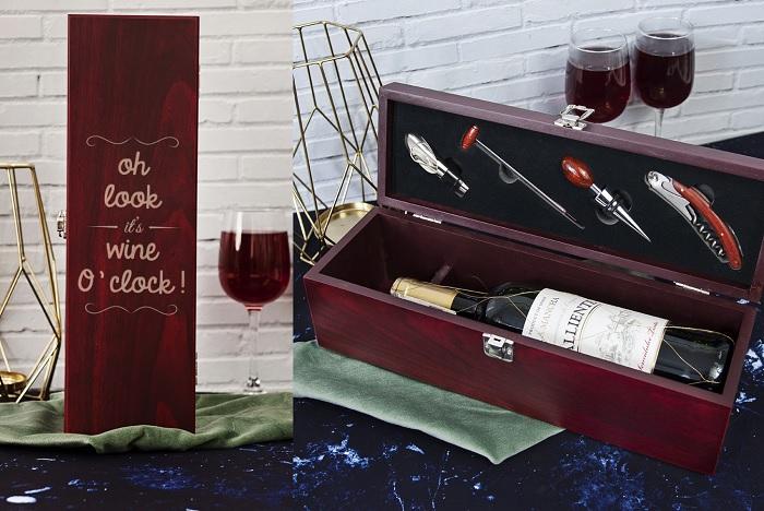 skrzynka na wino wine oclock
