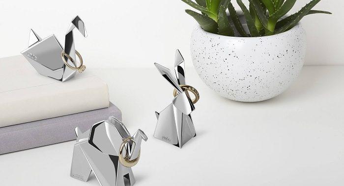 stojak na bizuterie zwierzaki origami umbra