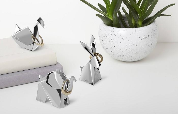 Stojak na pierścionki zwierzaki origami by Umbra