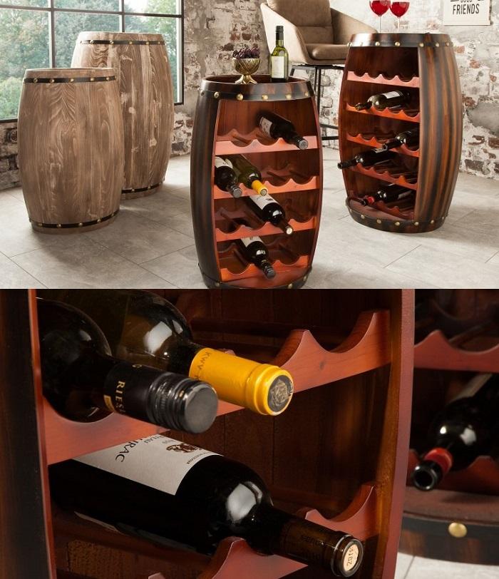 stojak na wino beczka