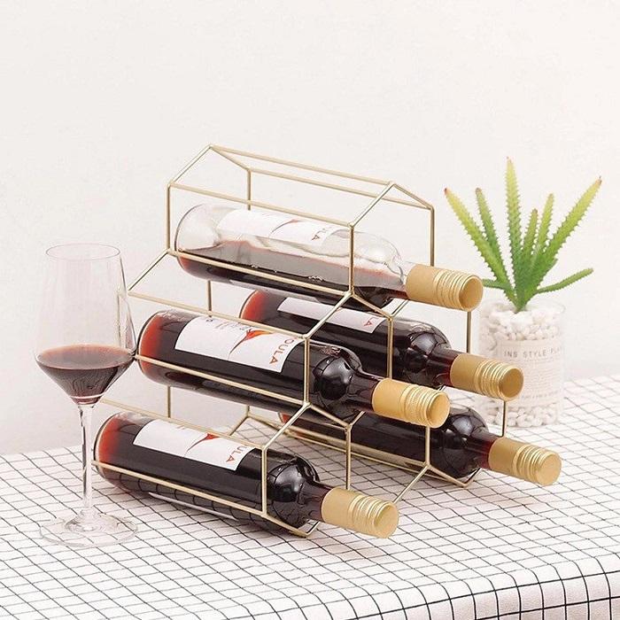 stojak na wino hexagon