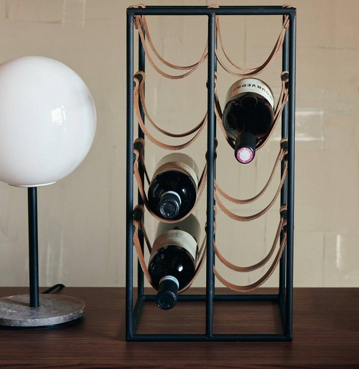 stojak na wino menu
