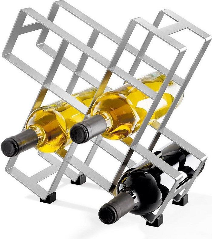 stojak na wino metalowy