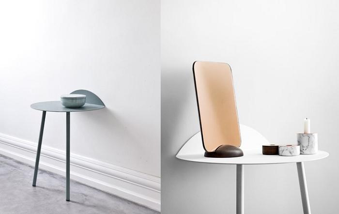 Przyścienny stolik na dwóch nogach marki Menu