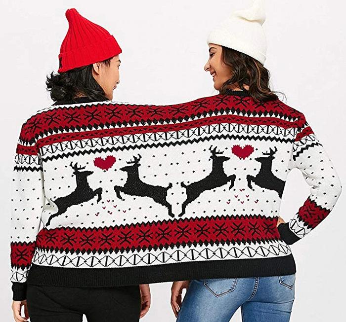 swiateczny sweter dla dwoch osob