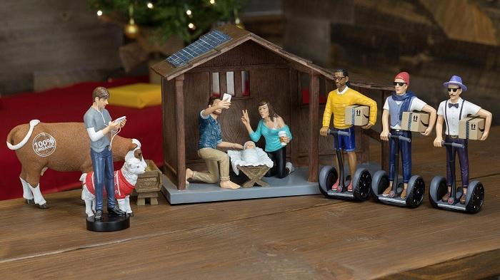 Szopka bożonarodzeniowa w hipsterskim klimacie