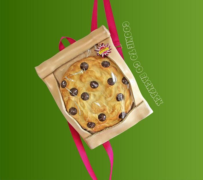 torebki jedzenie ciastko plecak
