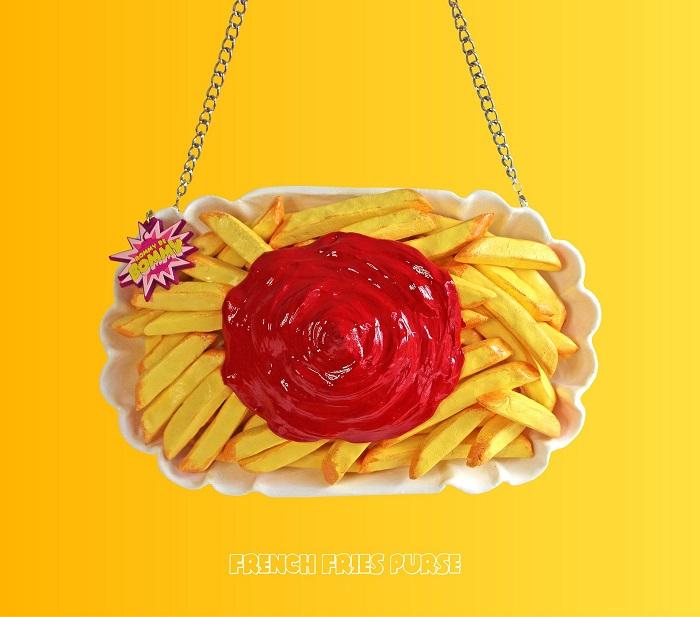 torebki jedzenie frytki